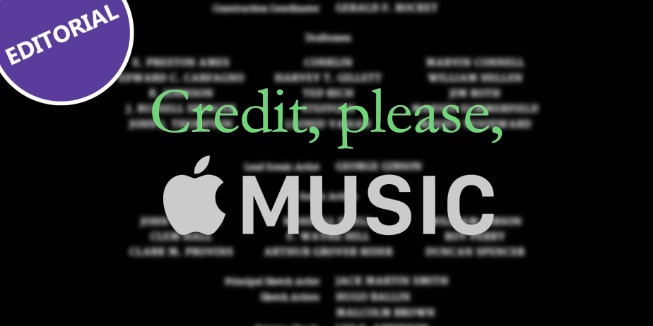 Credits where credits are due